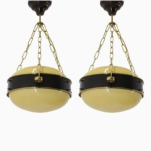 Ceiling Lamps, 1950s, Set of 2