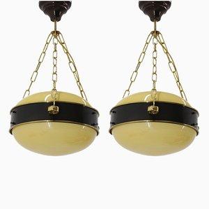Lampade da soffitto, anni '50, set di 2