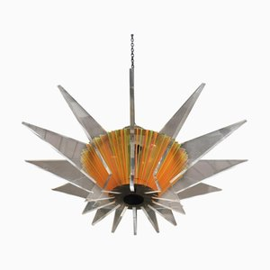 French Geometric Ceiling Lamp, 1980s