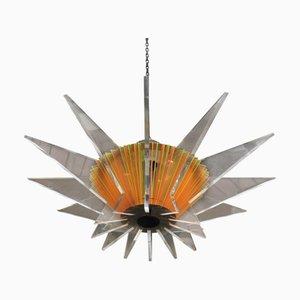 Geometrische französische Deckenlampe, 1980er