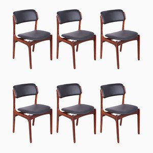 Model 49 Rosewood Dining Chairs by Erik Buch for Oddense Maskinsnedkeri / O.D. Møbler, 1960s, Set of 6