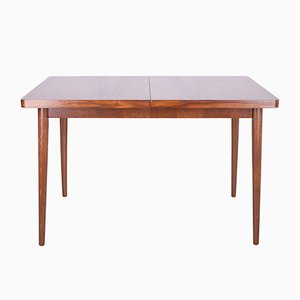 Czech Walnut Extendable Dining Table, 1960s