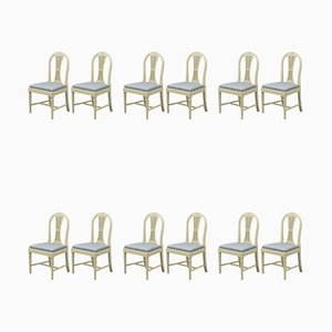 Antique Gustavian Dining Chairs, Set of 13