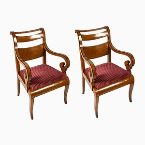 Antique Maple Lounge Chairs, Set of 2