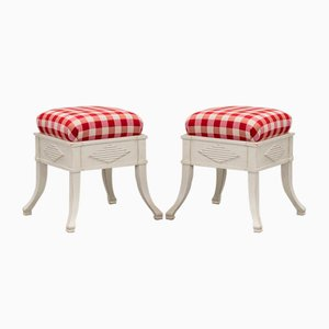 Antique Poufs, Set of 2