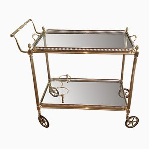 French Brass Trolley, 1940s