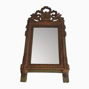 Antique French Gilt and Painted Wood Mirror