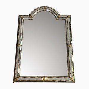 Französischer Spiegel mit Messingrahmen, 1970er