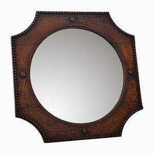 Octagonal Oak Mirror, 1920s