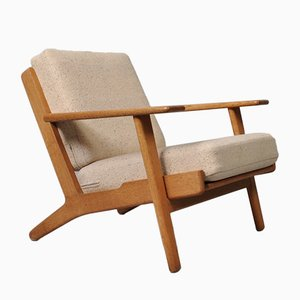 Model GE290 Oak Lounge Chair by Hans J. Wegner for Getama, 1950s