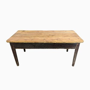 Antique Victorian Painted Pine Prep Table