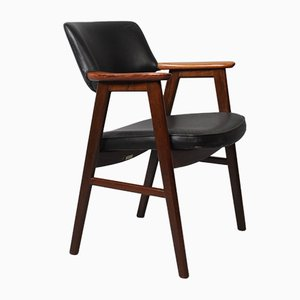 Danish Rosewood Desk Chair by Erik Kirkegaard for Høng Stolefabrik, 1950s
