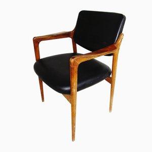 Chaise de Salle à Manger Mid-Century en Teck par Finn Juhl pour France & Søn / France & Daverkosen, Danemark, années 50