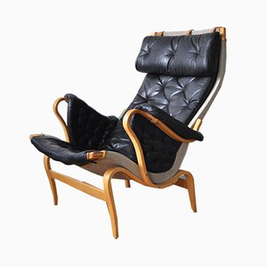 Swedish Pernilla Lounge Chair by Bruno Mathsson for Dux, 1970s