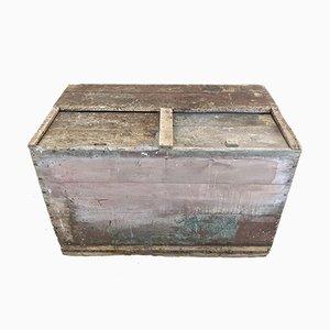 Antiker Aufbewahrungsbehälter aus Holz