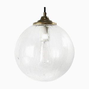 Lampe à Suspension Globe Mid-Century en Laiton