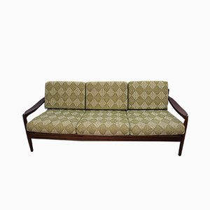 Mid-Century Danish Green Wool 3-Seater Sofa, 1960s