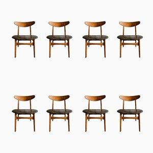 Chaises de Salle à Manger Modèle CH30P par Hans J. Wegner pour Carl Hansen & Søn, 1954, Set de 8