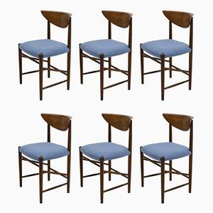 Mid-Century Esszimmerstühle aus Teak von Peter Hvidt & Orla Mølgaard-Nielsen für Soborg Mobler, 1950er, 6er Set
