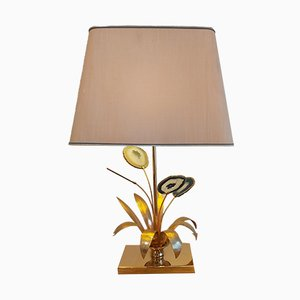 Lámpara de mesa vintage de ágata de Willy Daro