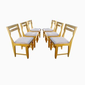 Raphael Dining Chairs by Guillerme et Chambron for Votre Maison, 1970s, Set of 6