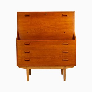 Teak and Oak Secretaire by Børge Mogensen for Søborg Møbelfabrik, 1960s