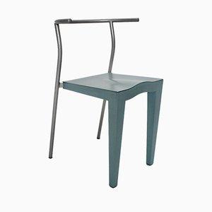 Hellblauer italienischer Vintage Stuhl von Phillipe Starck für Kartell, 1980er