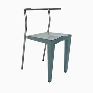 Vintage Italian Light Blue Lounge Chair by Phillipe Starck for Kartell, 1980s
