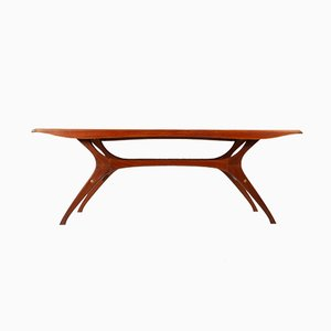 Danish Teak Veneered Coffee Table, 1960s