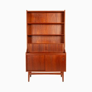 Danish Teak High Secretaire by Johannes Sorth for Bornholm, 1960s