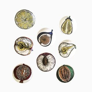 Coasters by Piero Fornasetti for Atelier Fornasetti, 1950s, Set of 8