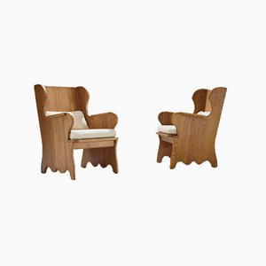 Swedish Model Lovo Armchairs by Axel Einar Hjorth for Nordiska Kompaniet, 1930s, Set of 2