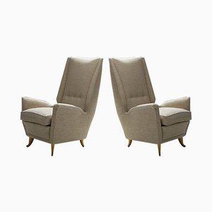 Italienische Sessel von Gio Ponti für ISA Bergamo, 1950er, 2er Set