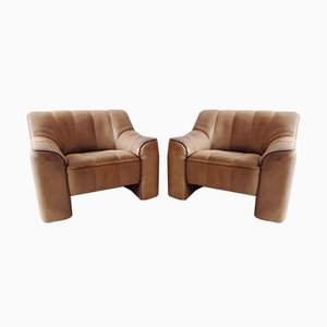 Leather Model DS44 Armchairs from de Sede, 1970s, Set of 2