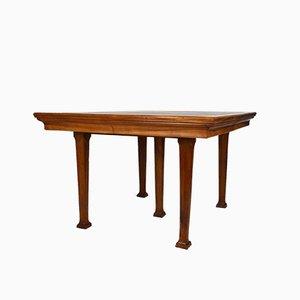 Tavolo da pranzo antico in noce di Georges Ernest Nowak