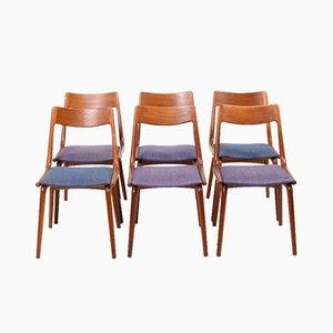 Mid-Century Boomerang Esszimmerstühle aus Teak von Alfred Christensen für Slagelse Møbelværk, 6er Set