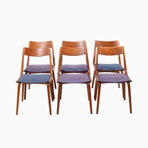 Mid-Century Teak Boomerang Dining Chairs by Alfred Christensen for for Slagelse Møbelværk, Set of 6
