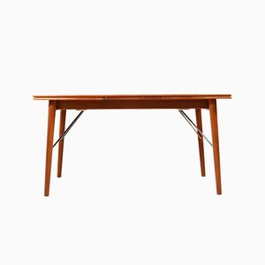 Mid-Century Teak Extendable Dining Table by Peter Hvidt & Orla Mølgaard-Nielsen for Søborg Møbelfabrik