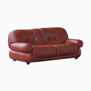 Vintage 2-Sitzer Ledersofa