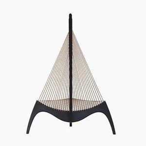 Harfenförmiger Vintage Sessel von Jørgen Høvelskov für Christensen & Larsen
