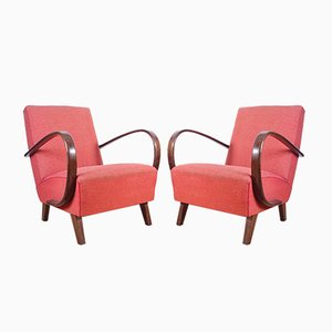 Lounge Chairs by Jindřich Halabala for UP Závody, 1930s, Set of 2