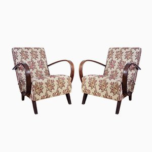 Vintage Lounge Chairs by Jindřich Halabala, Set of 2