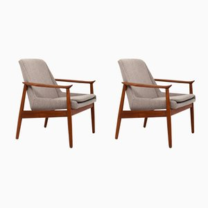 No. 810 Lounge Chairs by Arne Vodder for Slagelse Møbelværk, 1950s, Set of 2