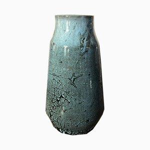 Blaue Marmorvase von Accolay, 1970er