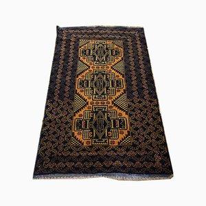 Blauer Mid-Century Afghan Belutch Teppich