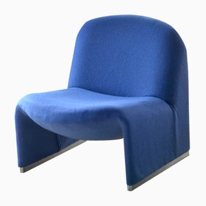 Vintage Blue Lounge Chair by Giancarlo Piretti for Castelli / Anonima Castelli, 1960s