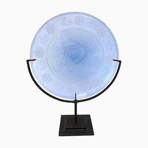 Plato decorativo de cristal de Murano de Galileo Chini para SALIR, años 30