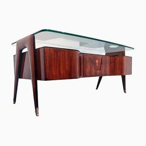 Mid-Century Italian Rosewood Desk by Vittorio Dassi for Dassi Mobili Moderni, 1950s