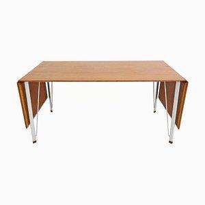 Mesa de comedor Mid-Century de teca de Arne Jacobsen para Fritz Hansen