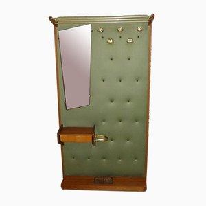 Mid-Century Garderobe mit Spiegel, Regal & Box